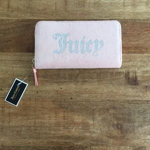 Juicy Couture Black Label Pink Zip Around Wallet